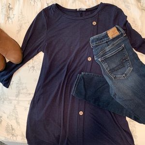 Navy blue tunic